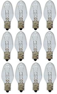 GE Lighting H&PC-73238 700064833735 4-Watt Night Light, Clear C7 2CD, 12-Bulbs