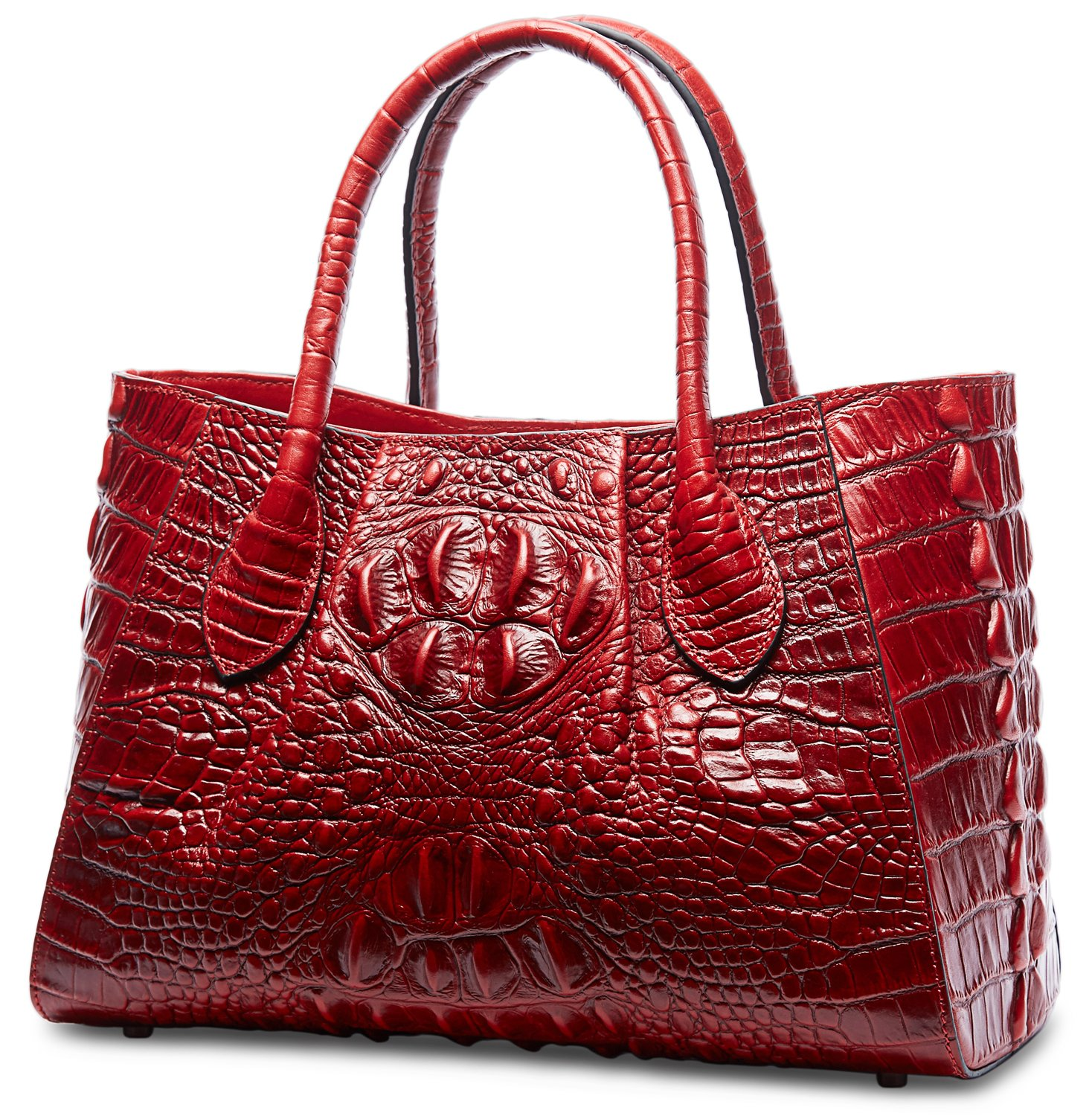 Buy Pifuren Designer Crocodile Top Handle Handbags Womens Genuine Leather  Tote Bags M1107 (New Red) Online at Low Prices in India - Amazon.in a077f4cca2bf3