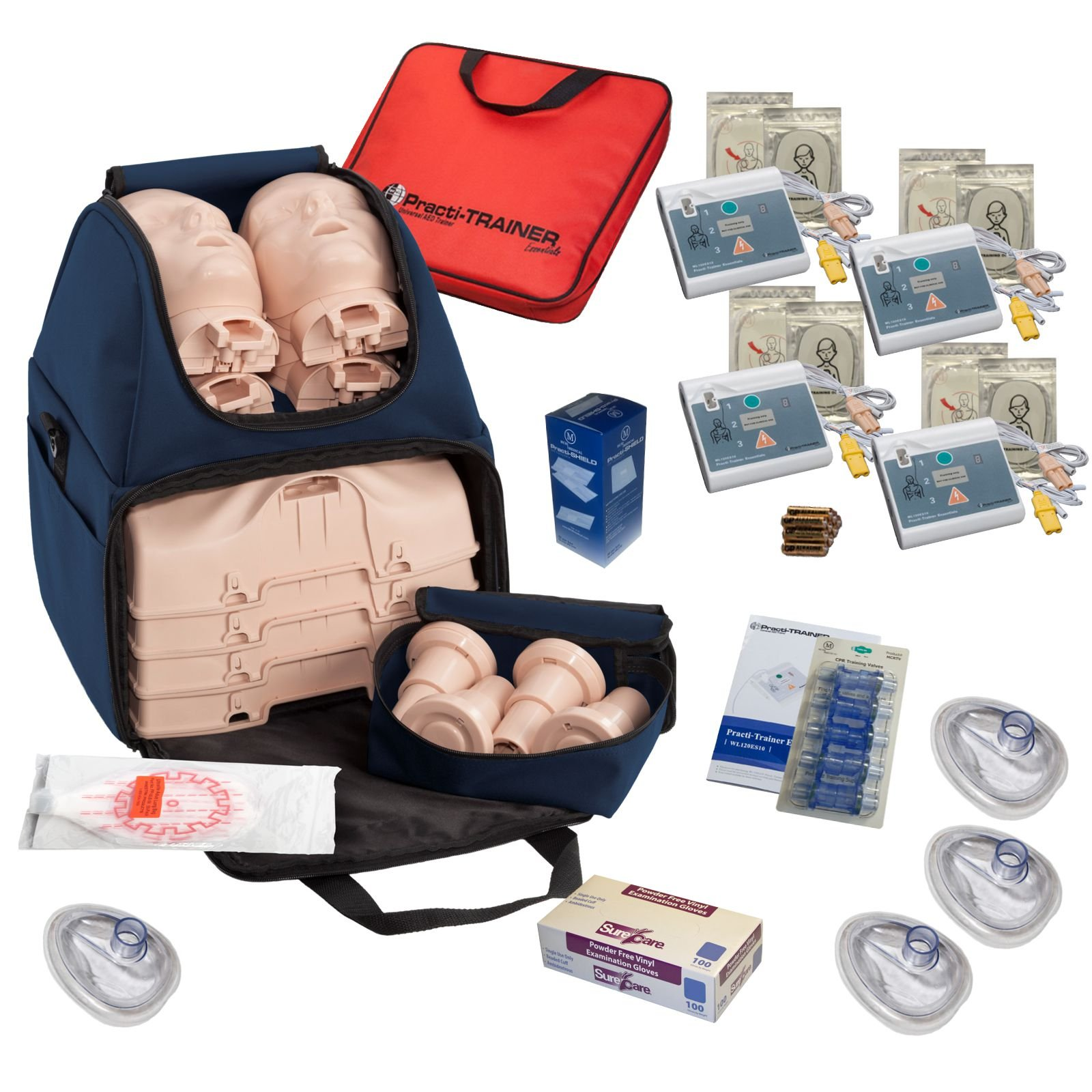 CPR Training Kit w Prestan Ultralite Manikins, WNL AED Trainers, & More by MCR Medical