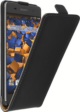 Mumbi Echt Leder Flip Case Kompatibel Mit Sony Xperia Xa Hülle Leder Tasche Case Wallet Schwarz Elektronik