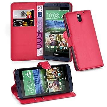 Cadorabo Funda Libro para HTC Desire 610 en Rojo Carmin – Cubierta Proteccíon con Cierre Magnético, Tarjetero y Función de Suporte – Etui Case Cover ...