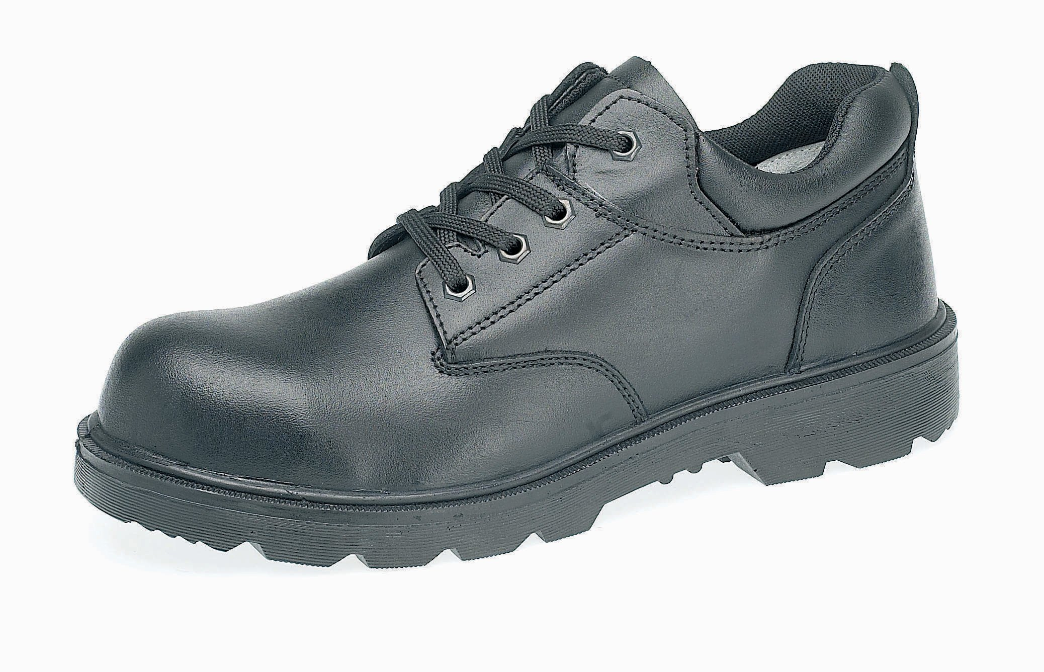 Capps Men's LH833SM Water Resistant Smooth Leather Gibson Safety Shoe With Steel Midsole US Size 9 Black