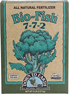 Down to Earth Organic Bio-Fish Fertilizer Mix 7-7-2, 5 lb