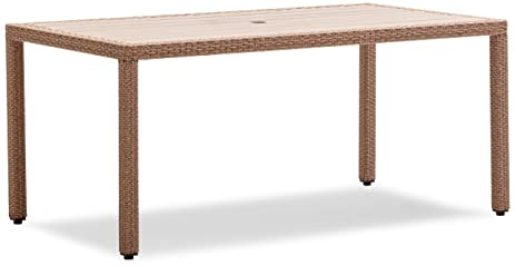 Strathwood Griffen All Weather Wicker And Resin Dining Table, Natural