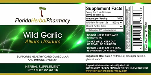 Amazon com: Florida Herbal Pharmacy, Wild Garlic (Allium