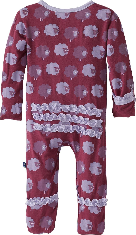 KicKee Pants Baby Girls Newborn Print Ruffle Footie