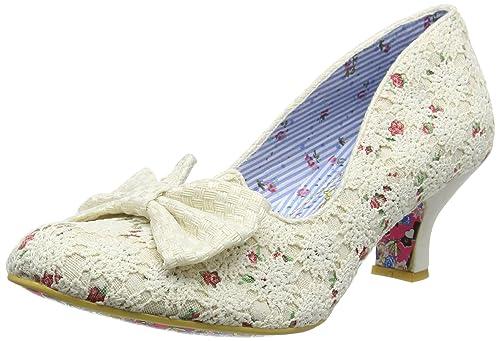 2783d85104fa Irregular Choice Women s s Dazzles 2Nd Razzle Closed-Toe Pumps Off-White  (Cream Floral