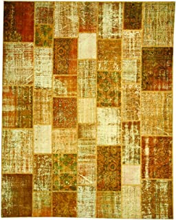 product image for Beekman 1802 Kindfolk Patchwork Rug, 6 by 9-Inch, Honey