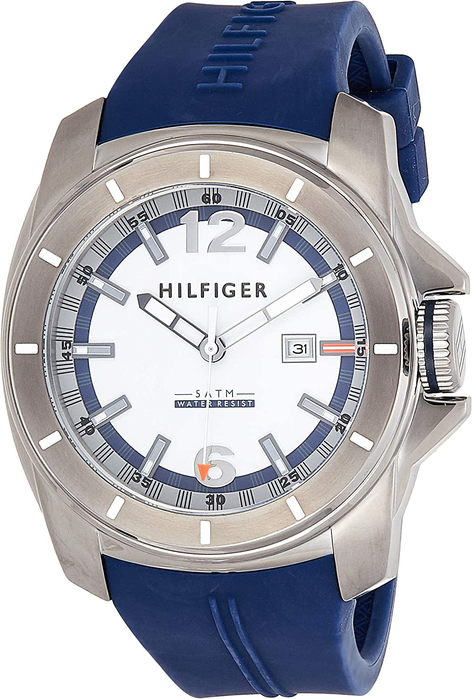 Tommy Hilfiger Men s 1791113 Cool Sport Analog Display Quartz Blue Watch