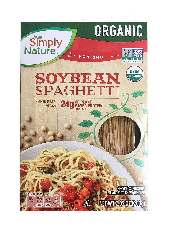 Simply Nature Organic Soybean Spaghetti Gluten Free Vegan, Pack of 2