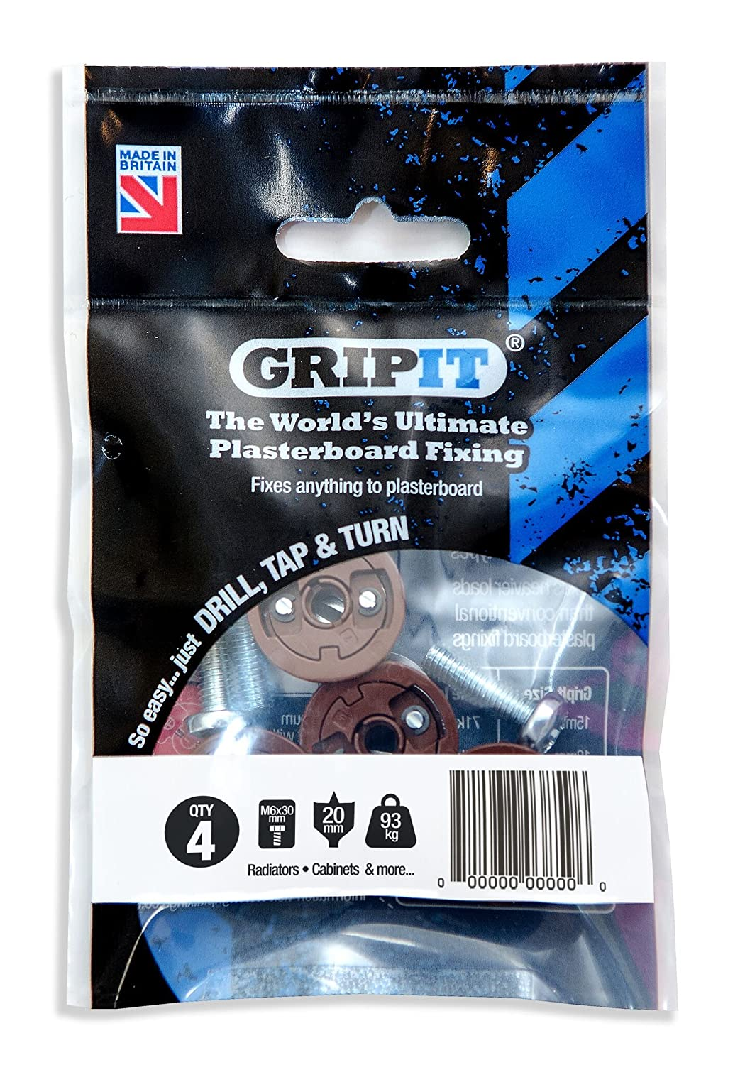 Pack of 8 Brown//20mm Gripit