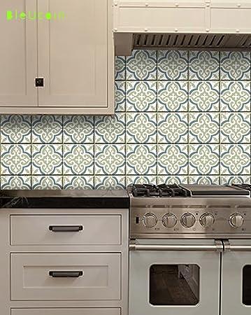 Stile marocchino-Adesivi in vinile per parete, per cucina/bagno ...