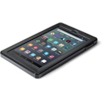 Nupro Heavy Duty Shock-Proof Standing Cover with Screen Protector For Fire 7 Tablet, Black