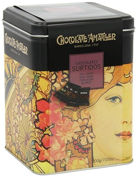 Chocolate Amatller - Chocolates Surtidos en caja metal - 200 gr.: Amazon.es: Alimentación y bebidas