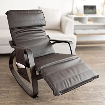 Haotian Comfortable Relax Rocking Chair with Foot Rest Design Lounge Chair Recliners Removable Side & Amazon.com: Haotian Comfortable Relax Rocking Chair with Foot Rest ...