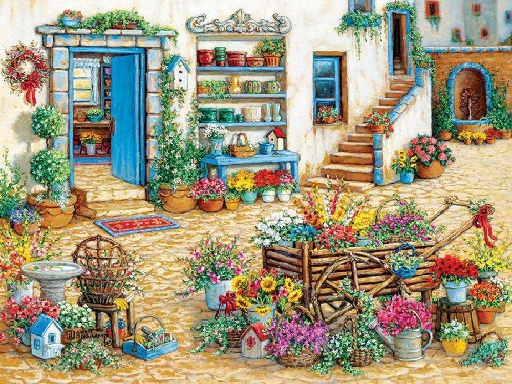 Cobble Hill Fancy Flower Shop Jigsaw Puzzle, 275-Piece by Cobble Hill