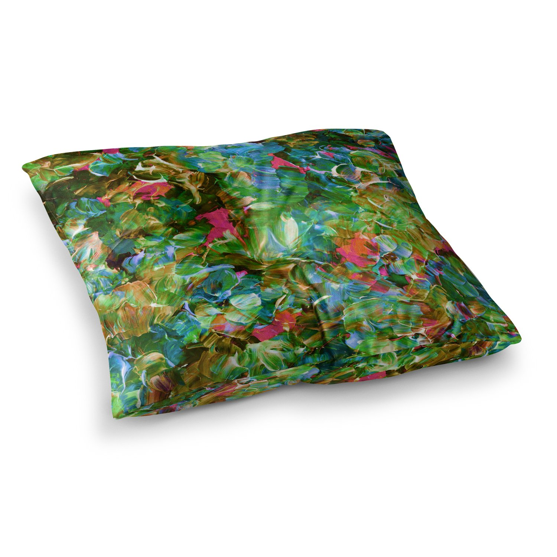 Kess InHouse EBI Emporium Its A Rose Colored Life 7 Purple Blue Painting 30 x 20 Pillow Sham