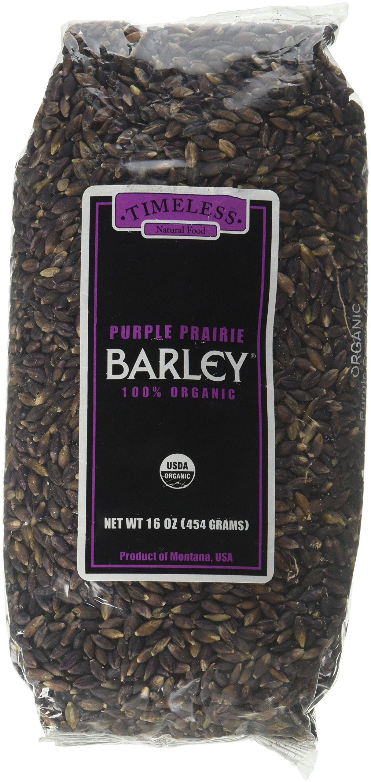 Certified 100% Organic Purple Prairie Barley Montana 454 g 16 oz by Timeless Natural Food (Image #1)