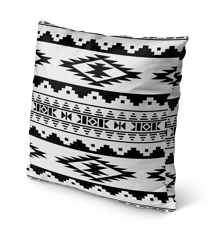 - MGTAVC2002OD18 Size: 18X18X6 - KAVKA Designs Cherokee Indoor-Outdoor Pillow, Black