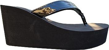9120011c579d REDVOLUTION Women s Platforms Wedge T-Strap Fashion Sandals Casual Flip  Flop