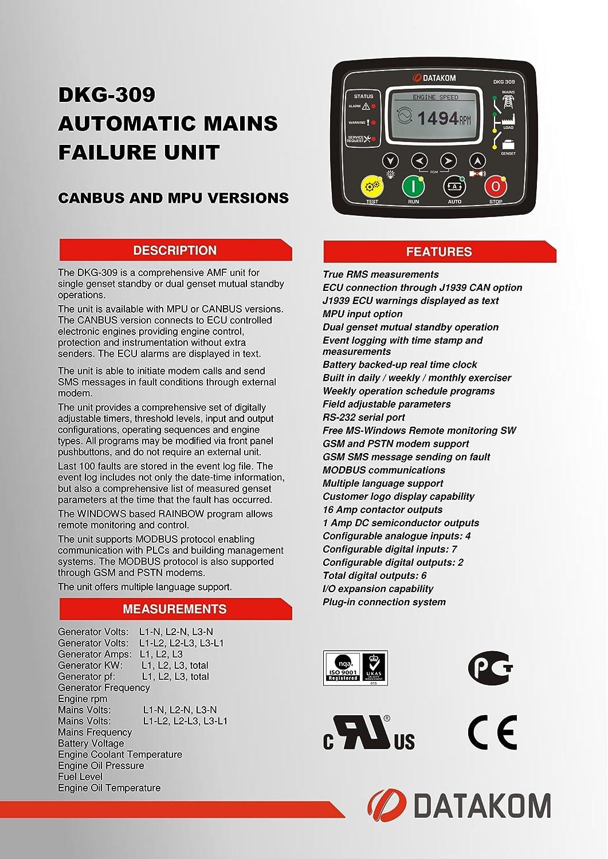 Amazon.com: DATAKOM DKG-309 MPU generador automáticas de ...