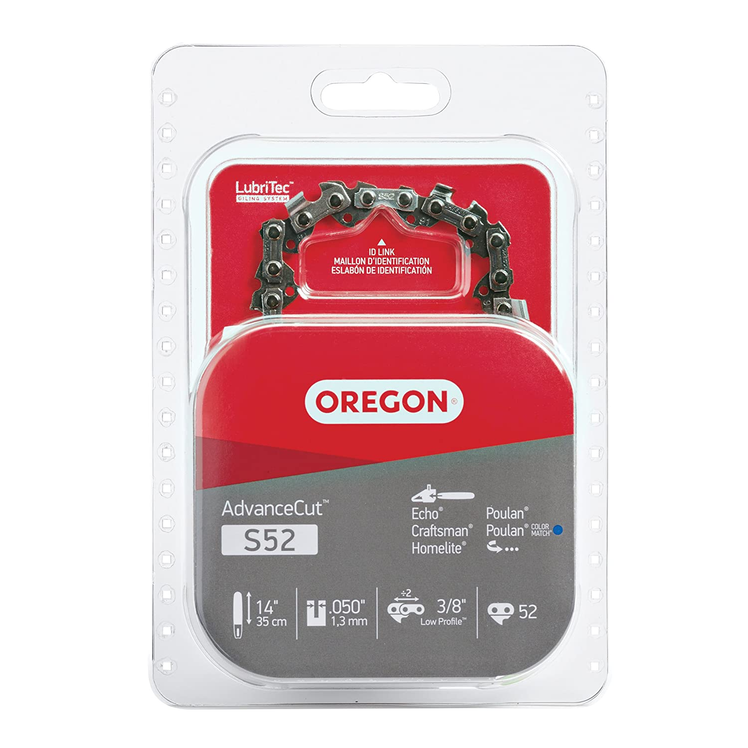 Oregon S52 AdvanceCut 14-Inch Chainsaw Chain Fits Craftsman, Echo, Homelite, Poulan