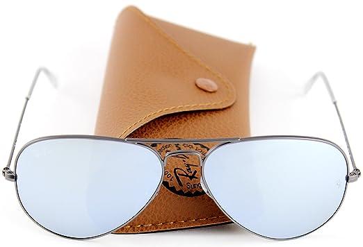 35ce3188fc shopping ray ban rb3025 aviator flash lens unisex sunglasses matte gunmetal  frame silver flash f20d8 5c33c