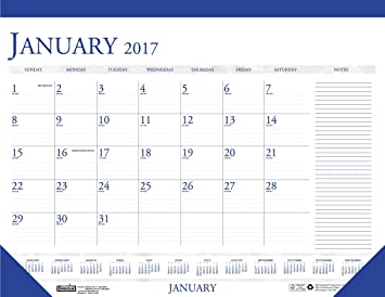 amazon com house of doolittle 2017 monthly desk pad calendar