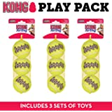 KONG Squeakair Dog Toy Tennis Ball - Medium, x 9