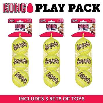 3633608294b0 Kong Squeak Air - Pelota de Tenis de Juguete para Perro, tamaño Mediano, 9  Unidades: Amazon.es: Productos para mascotas
