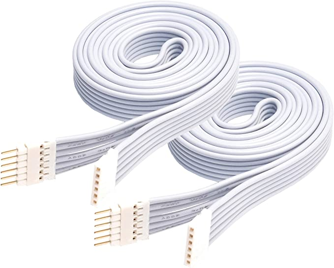 Cavo di Prolunga per Philips Hue Lightstrip Plus 1 m, 1 Pacco, Bianco