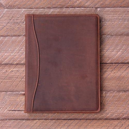 922a8d8fdacb Amazon.com  Pegai Personalized Leather Portfolio Legal Padfolio ...