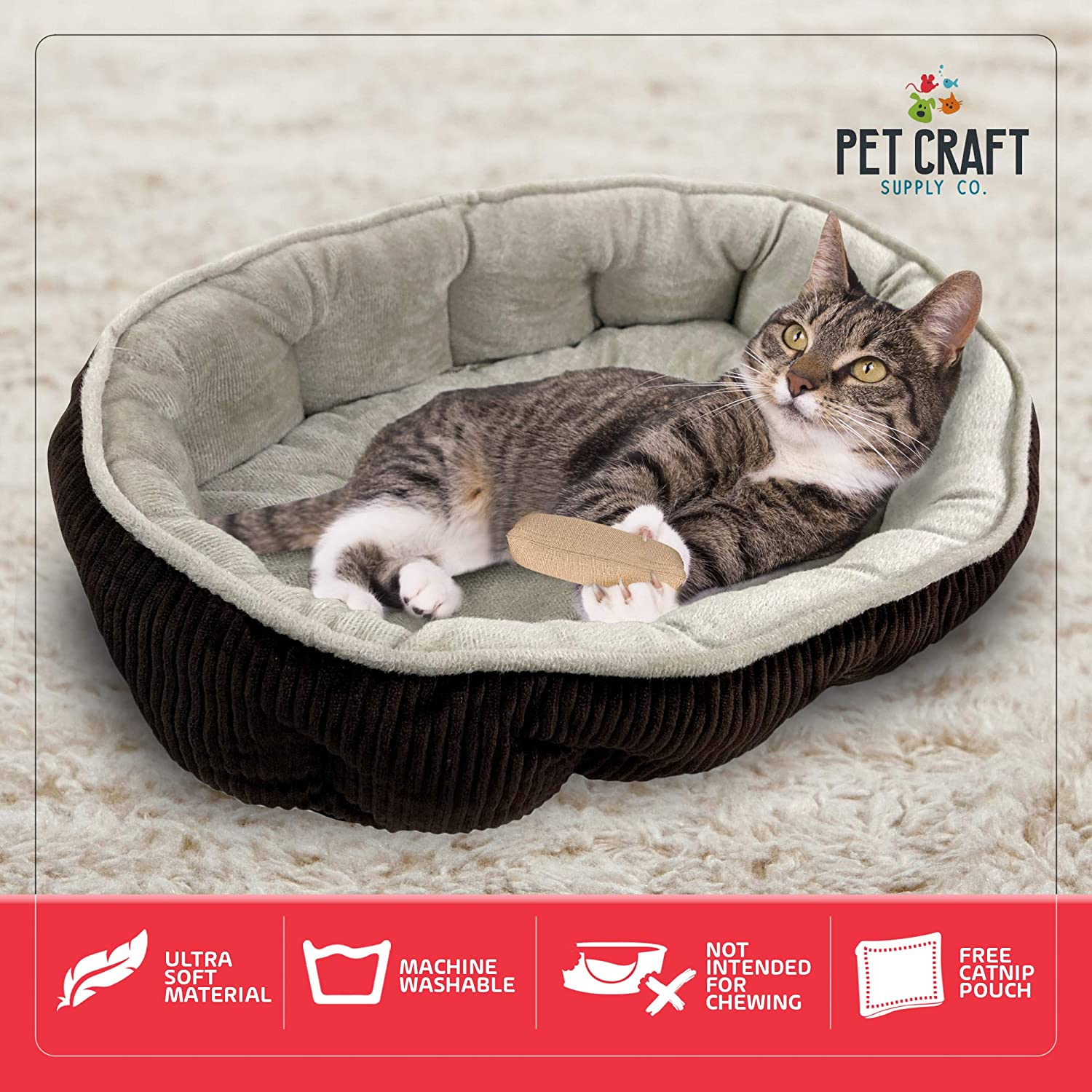 Amazon.com: Cama para gato simple y suave, con bolsa de ...