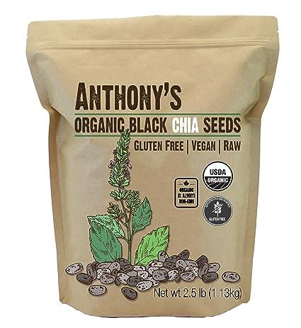 Anthonys Organic Chia Seeds Bulk Raw Non-GMO: Amazon.com ...