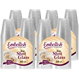 Embellish Crystal Clear Hard Plastic 2oz Clear Shot Glass Pack Of 200
