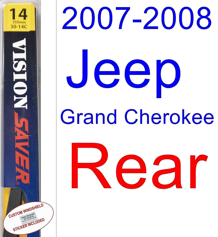 2007 - 2008 Jeep Grand Cherokee Laredo hoja de limpiaparabrisas de repuesto Set/Kit (Saver Automotive products-vision Saver): Amazon.es: Coche y moto