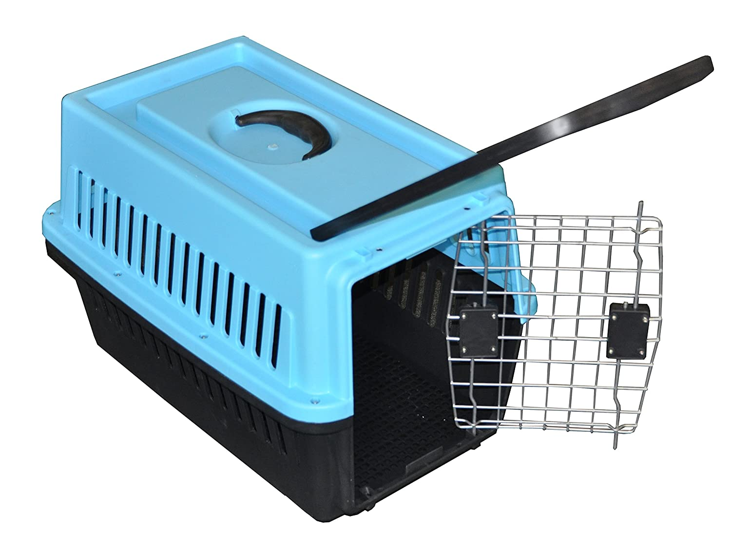 Cool Runners 106648 Plastic, Dog or Cat, Pet Crate with Wheels 24  L X 15  W X 18  H