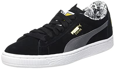 6d1ac530f926 Puma Unisex-Kinder Suede Batman Low-Top Schwarz Black-Steel Gray 01 ...