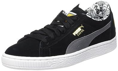 90fb43e5c371ab Steel Puma Gray Black Suede Batman Schwarz Kinder Top Unisex 01 Low wP80knO
