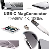 USB-C 3.1 PD 86W Magnetic Power Connector (MagConnector, Gray)