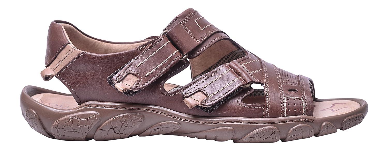 Vogar Sandalias Hombre Cuero Calzado Verano Zapatos Playa VG1122 EU 43 / 29.2 cm|Marrón
