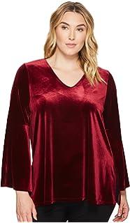 fcbd9c4f15b Karen Kane Plus Womens Plus Size Print Bell Sleeve Top at Amazon ...