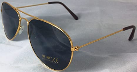 Beautifeye Dorado Metal Retro Aviator Gafas de Sol con ...