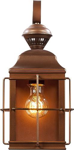 Heath Zenith HZ-4144-AZ Dual Brite Dimmable Motion Activated Decorative Light, 120 Vac, 100 W, 60 Hz, 30 Ft, 150 Deg, Antique Bronze