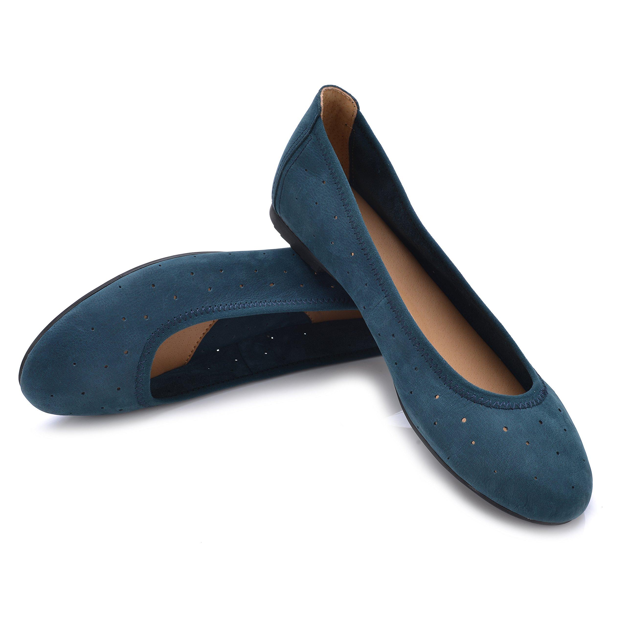 Eureka USA Women's Dianne Leather Ballet Flat