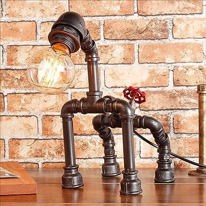Amazon.com: ZJF Retro Industrial Patinete Luz Americana DIY ...