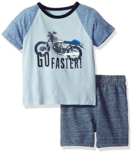 fc58ceb9b Amazon.com  The Children s Place Baby Girls  Screen Tee and Shorts ...