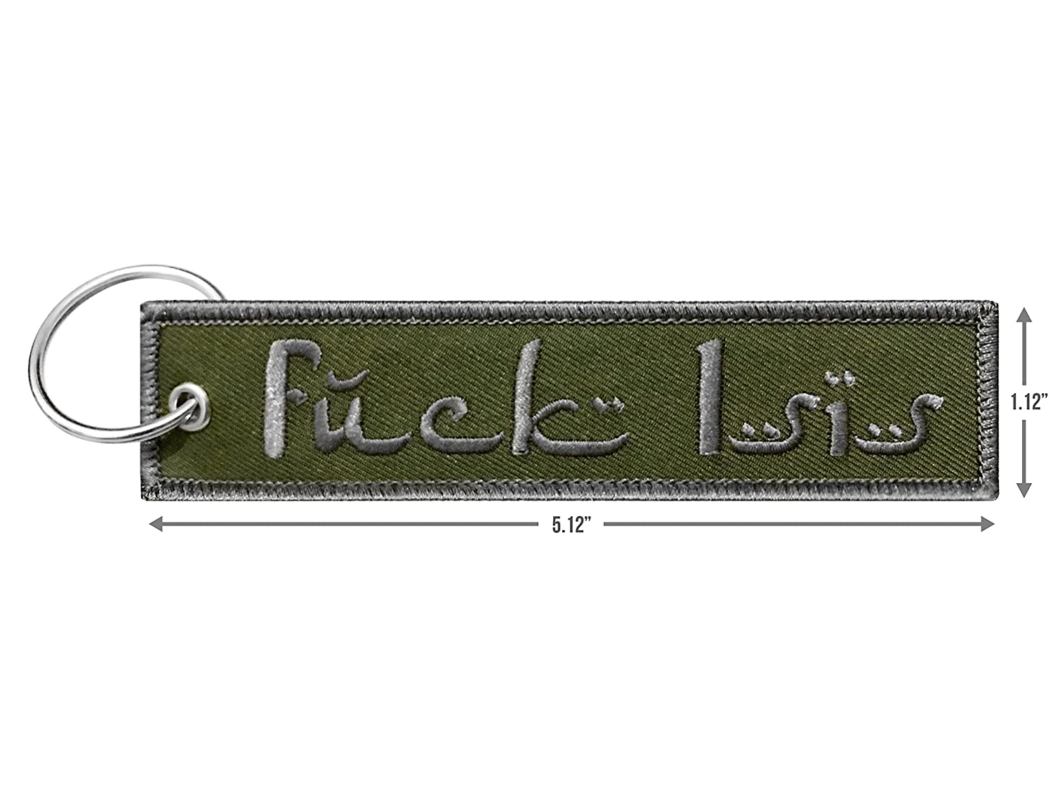 Amazon.com: Military FCK Isis Keychain Tag with Key Ring, EDC for ...