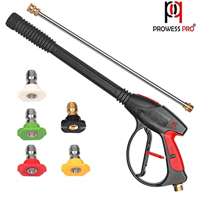 PP PROWESS PRO High Pressure Washer Gun 4000 PSI M22 x 14mm Inlet Fitting