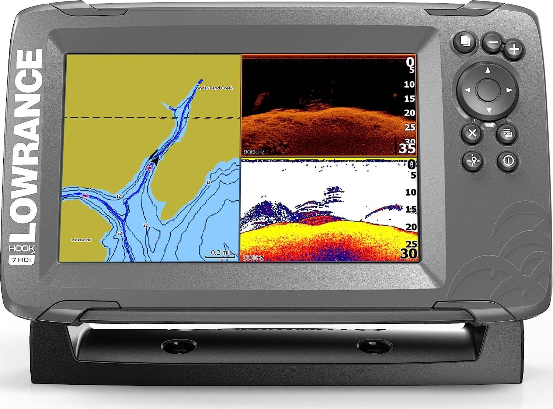 Lowrance HOOK2 7-inch Fish Finder with SplitShot Transducer